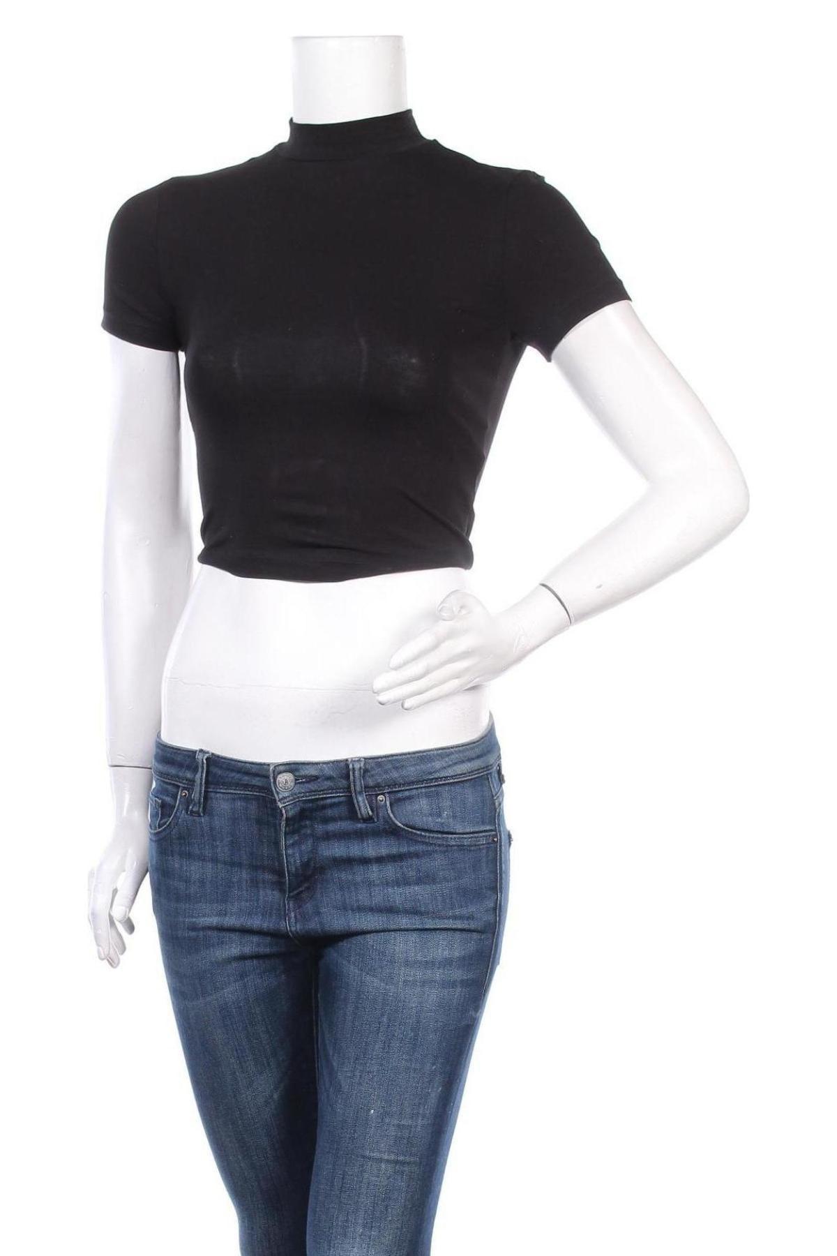Дамска блуза Even&Odd, Размер S, Цвят Черен, 95% памук, 5% еластан, Цена 25,50лв.