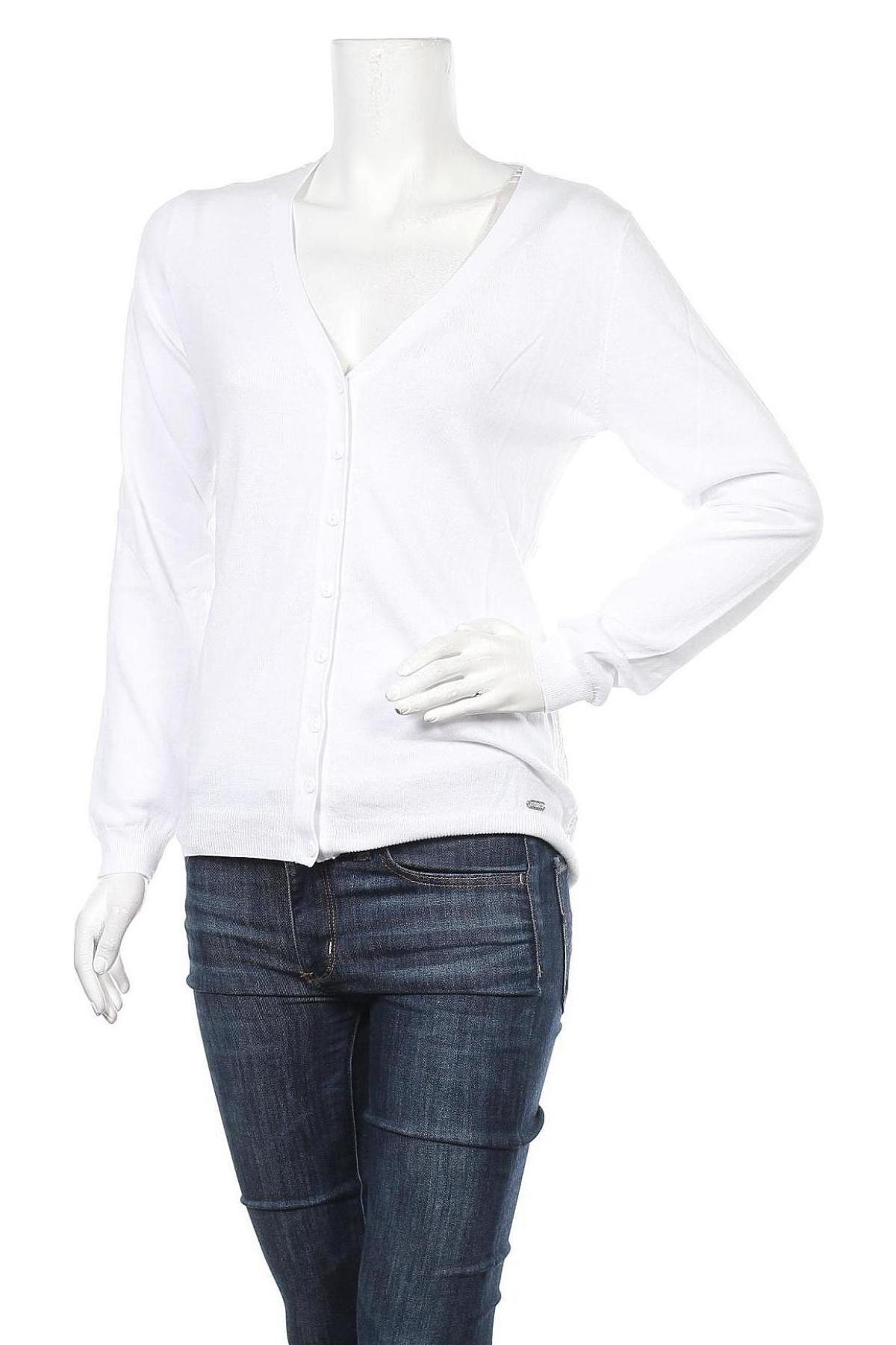 Γυναικεία ζακέτα Guess, Μέγεθος XL, Χρώμα Λευκό, 60% βαμβάκι, 40% βισκόζη, Τιμή 13,30€
