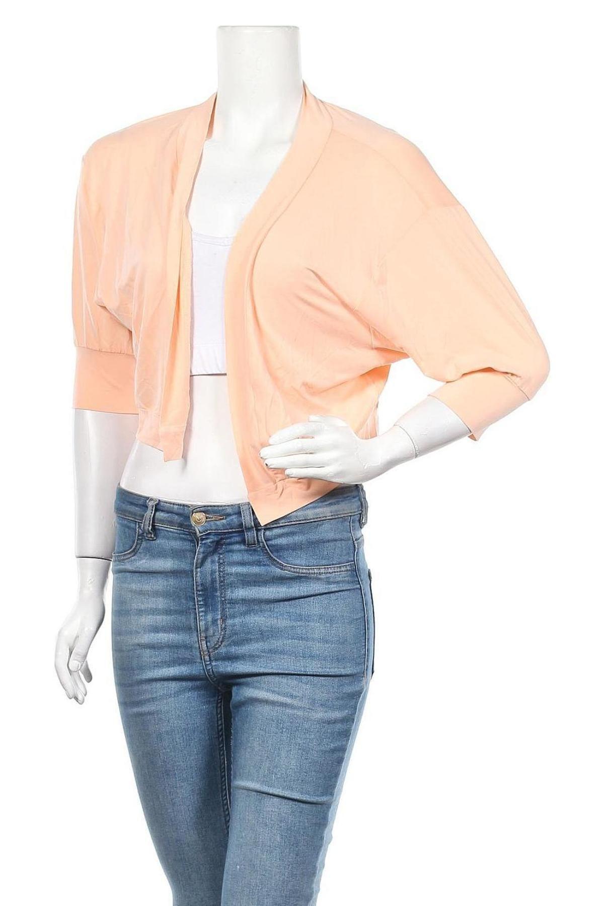 Γυναικεία ζακέτα Myrine, Μέγεθος S, Χρώμα Πορτοκαλί, 92% χαλκαμμωνία, 8% ελαστάνη, Τιμή 7,50€