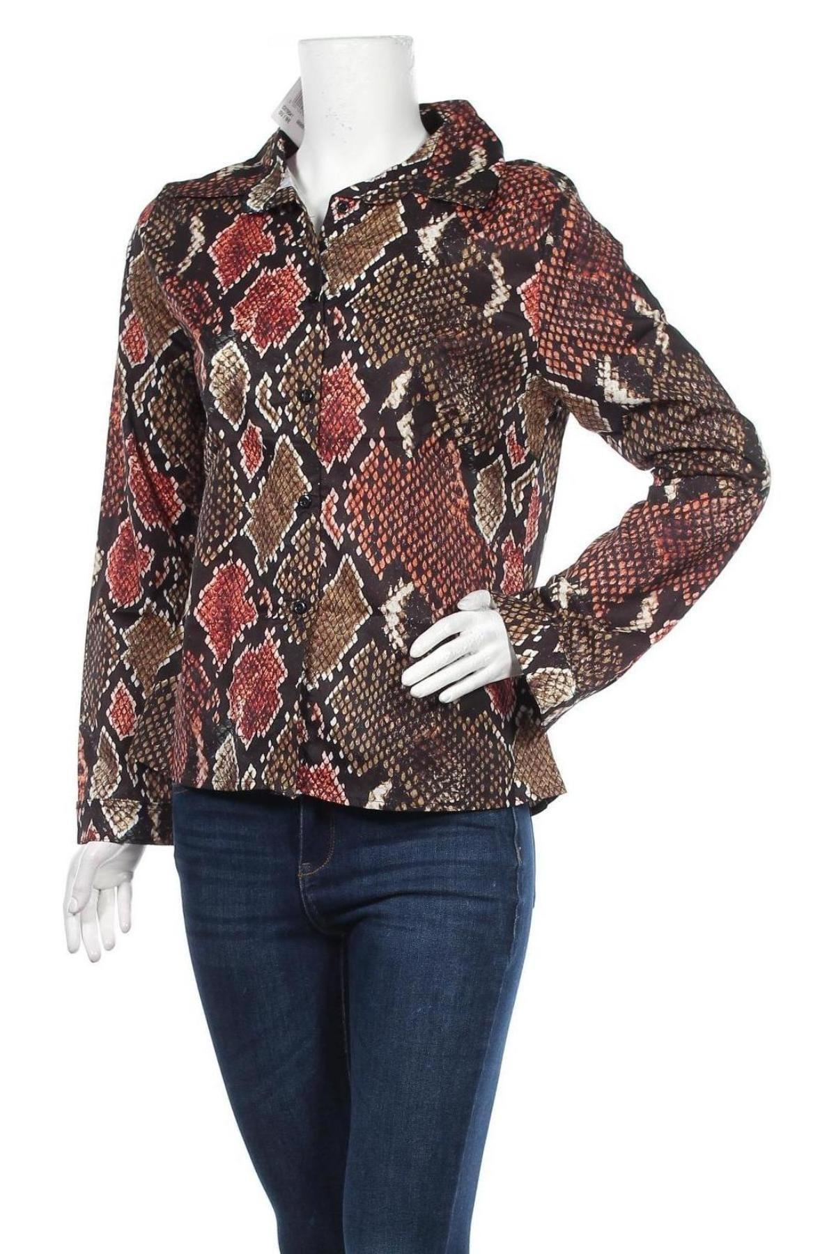Дамска риза New Laviva, Размер L, Цвят Многоцветен, 60% полиестер, 40% памук, Цена 18,20лв.
