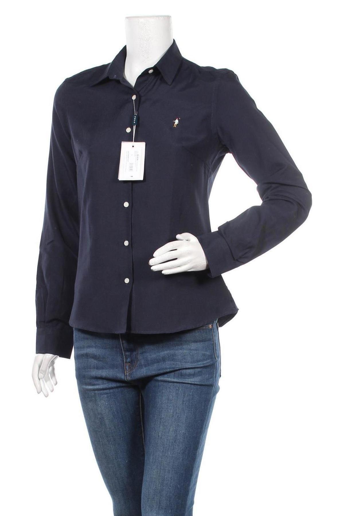 Дамска риза Polo Club, Размер L, Цвят Син, 70% памук, 30% полиестер, Цена 42,00лв.