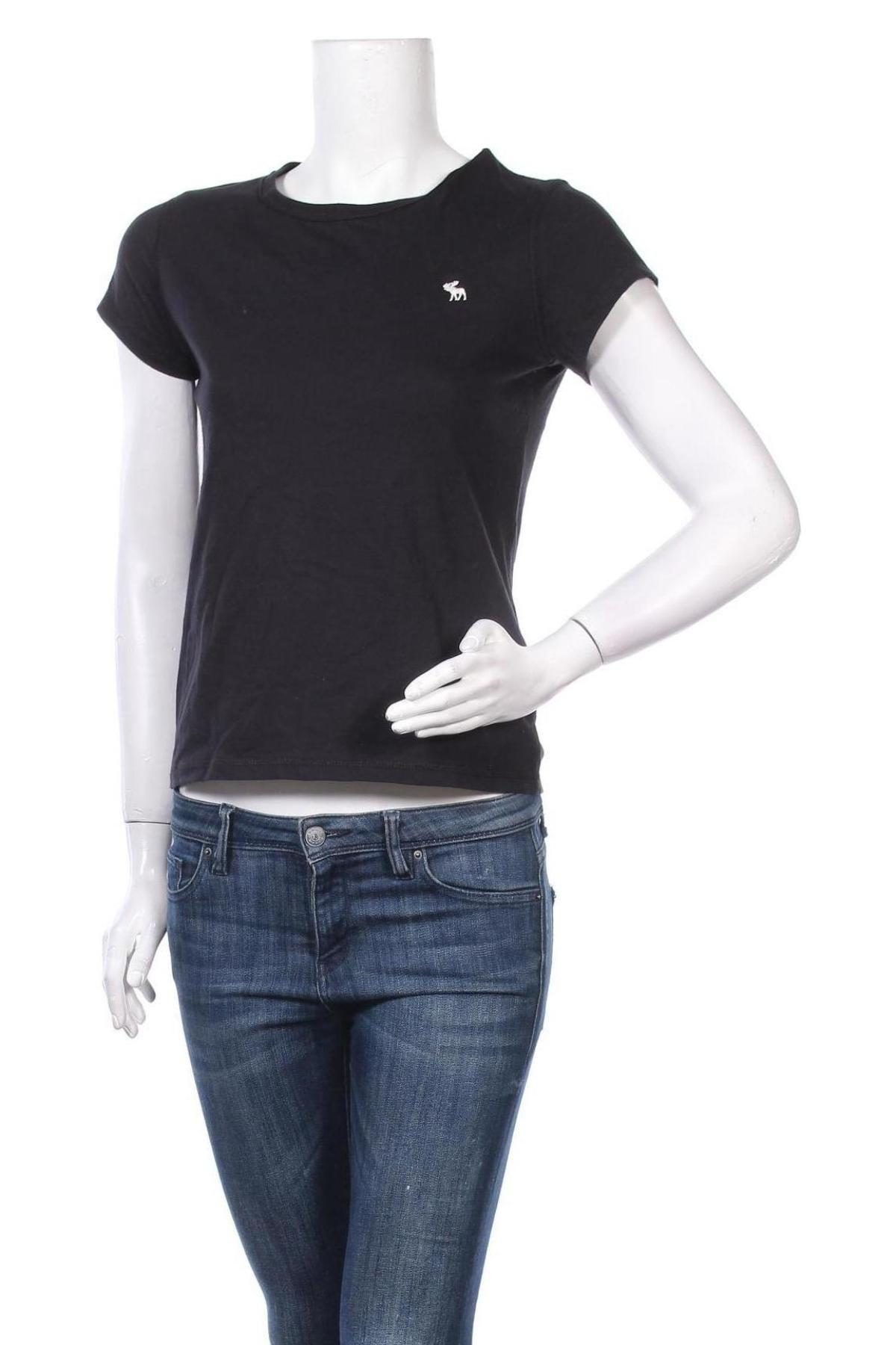 Дамска тениска Abercrombie & Fitch, Размер S, Цвят Черен, Памук, Цена 55,20лв.