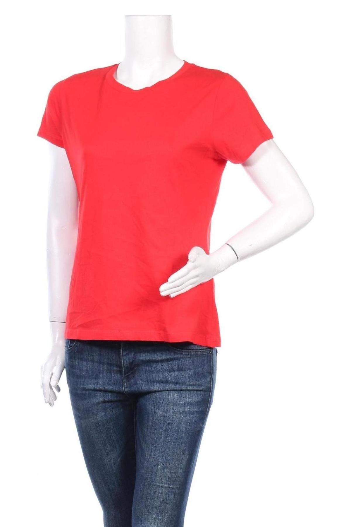 Дамска тениска Samsoe & Samsoe, Размер XS, Цвят Червен, 100% памук, Цена 16,50лв.