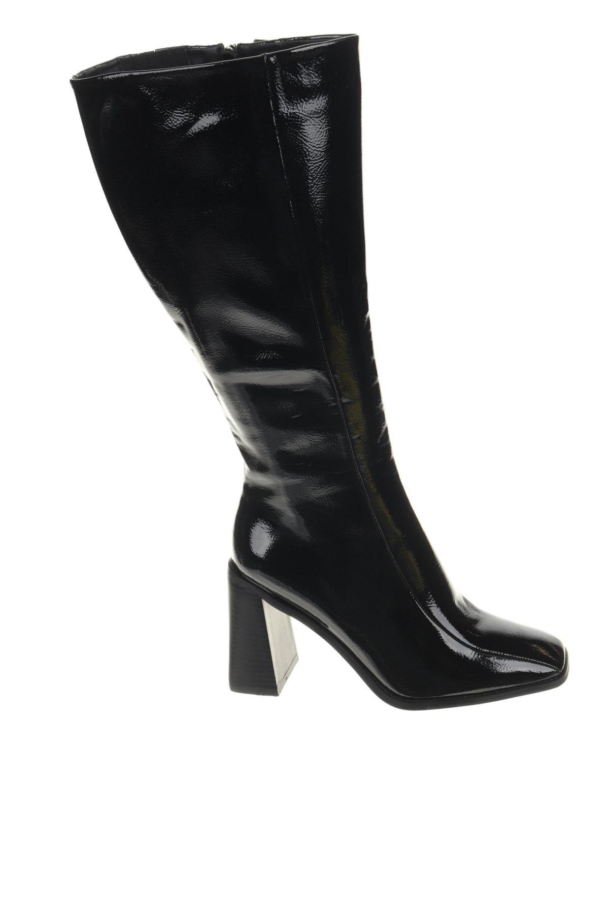 Γυναικείες μπότες Nasty Gal, Μέγεθος 39, Χρώμα Μαύρο, Δερματίνη, Τιμή 11,47€