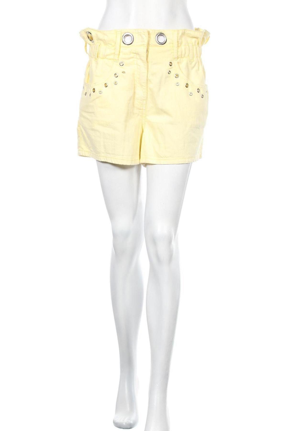 Γυναικείο κοντό παντελόνι Elsa, Μέγεθος S, Χρώμα Κίτρινο, Βαμβάκι, Τιμή 10,05€
