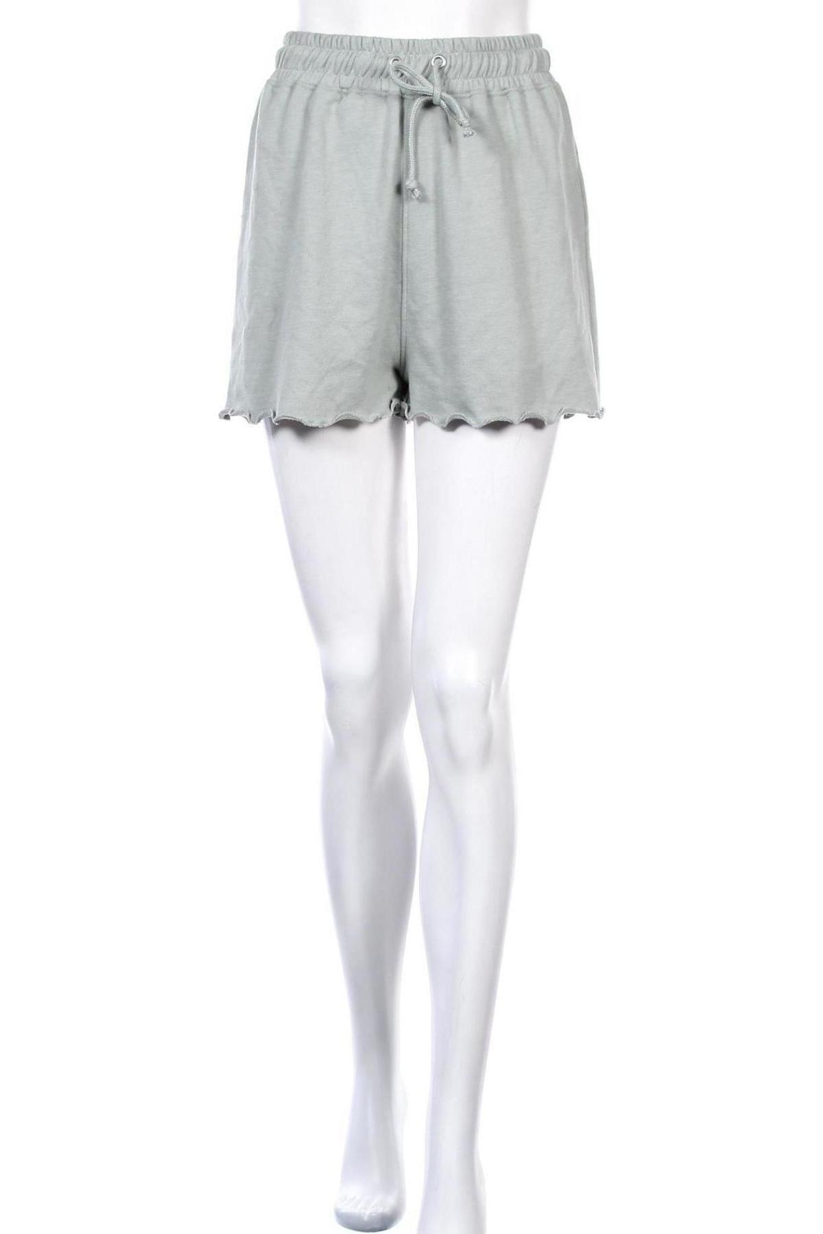 Γυναικείο κοντό παντελόνι Missguided, Μέγεθος S, Χρώμα Πράσινο, 55% πολυεστέρας, 45% βαμβάκι, Τιμή 9,64€