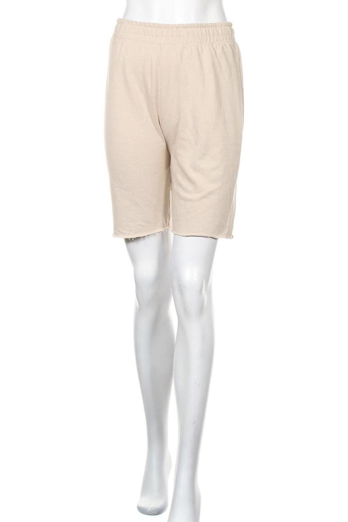 Γυναικείο κοντό παντελόνι Missguided, Μέγεθος S, Χρώμα  Μπέζ, 55% πολυεστέρας, 45% βαμβάκι, Τιμή 8,77€
