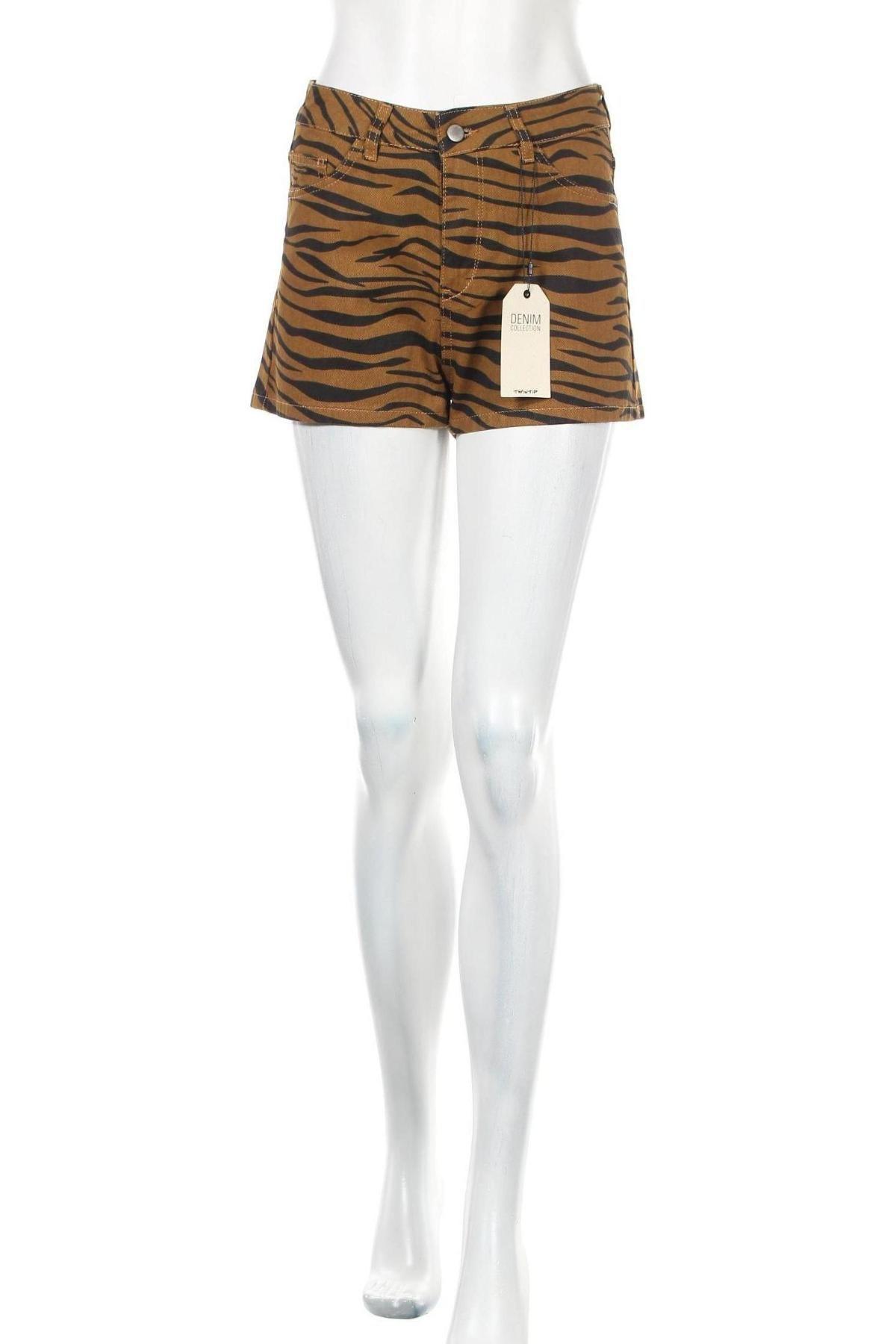 Γυναικείο κοντό παντελόνι Twintip, Μέγεθος S, Χρώμα Καφέ, Βαμβάκι, Τιμή 10,21€