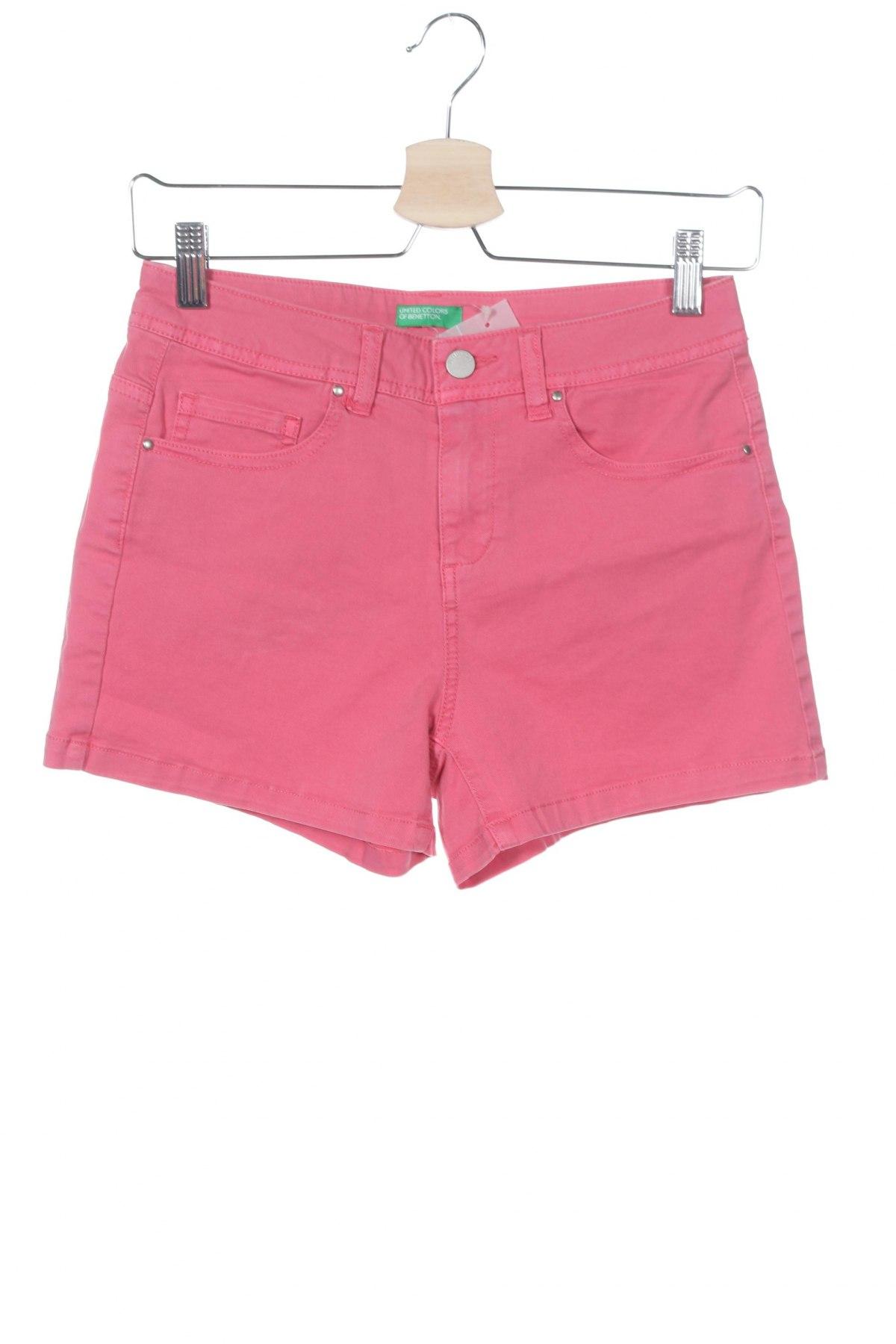 Γυναικείο κοντό παντελόνι United Colors Of Benetton, Μέγεθος XS, Χρώμα Ρόζ , 98% βαμβάκι, 2% ελαστάνη, Τιμή 15,21€