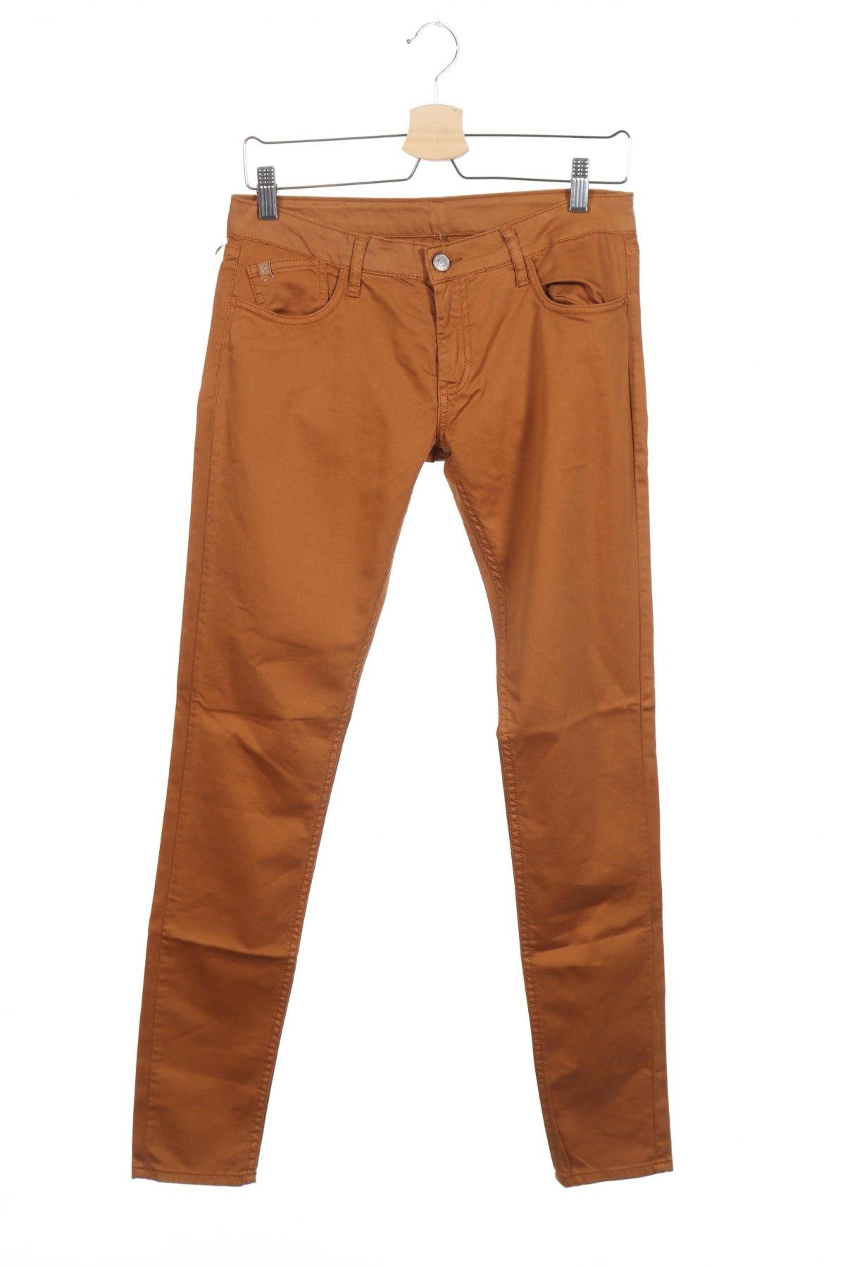 Дамски панталон Le Temps Des Cerises, Размер M, Цвят Кафяв, 97% памук, 3% еластан, Цена 18,48лв.