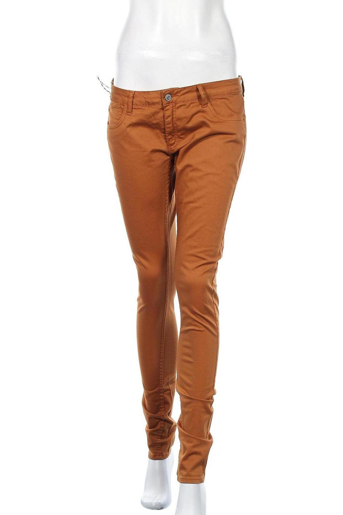 Дамски панталон Le Temps Des Cerises, Размер M, Цвят Кафяв, 97% памук, 3% еластан, Цена 17,82лв.