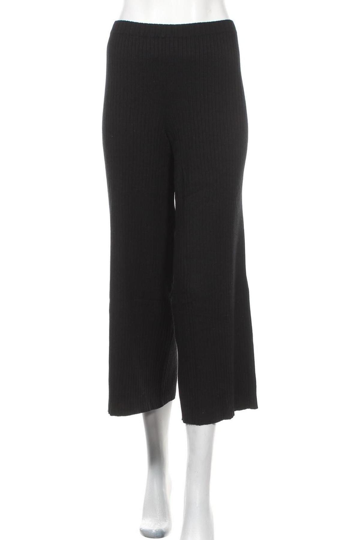 Дамски панталон Monki, Размер M, Цвят Черен, 70% вискоза, 30% полиамид, Цена 21,70лв.