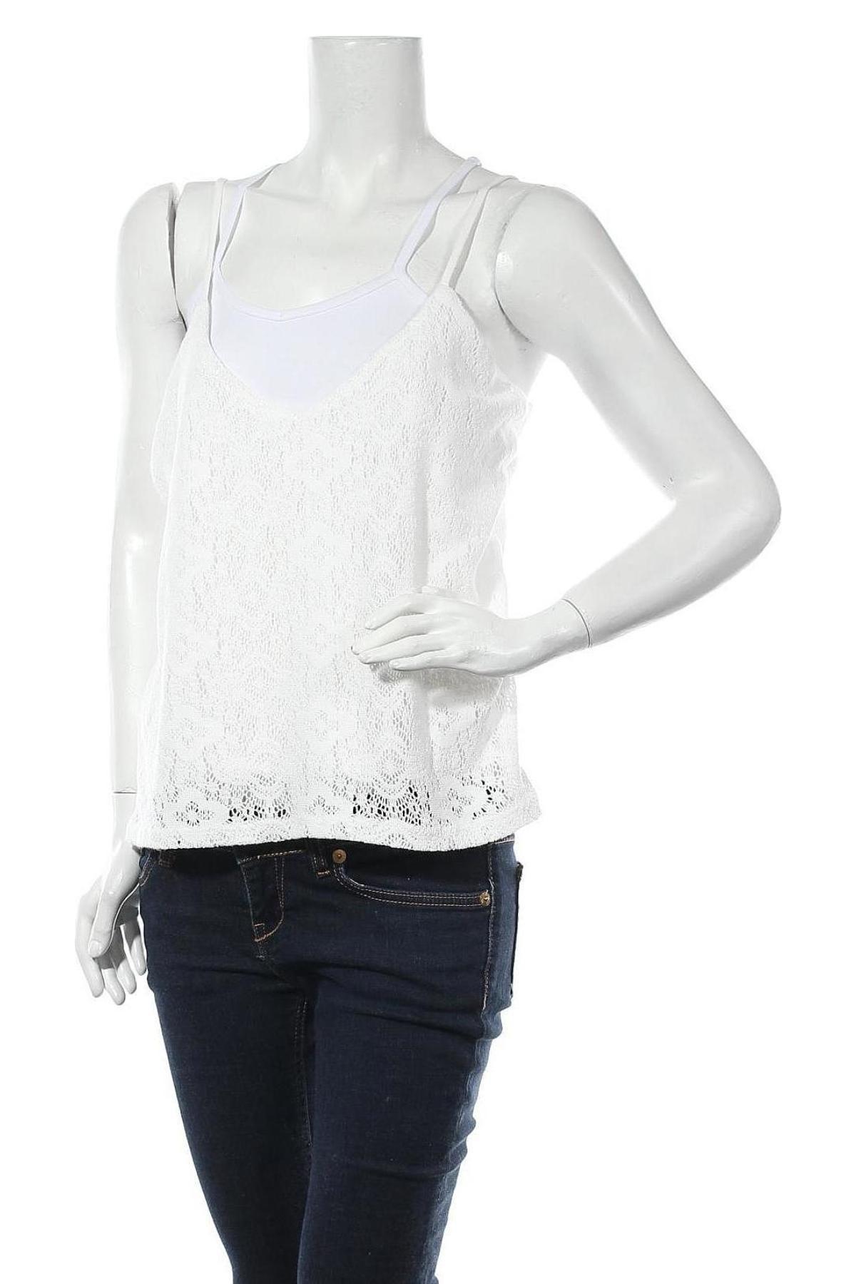 Дамски потник Hailys, Размер XL, Цвят Бял, 75% памук, 25% полиестер, Цена 8,00лв.