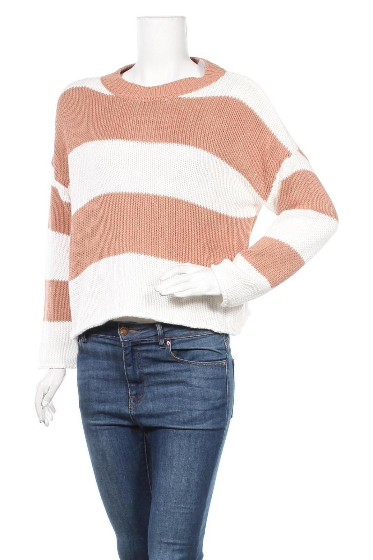 Γυναικείο πουλόβερ Lascana, Μέγεθος M, Χρώμα Καφέ, Βαμβάκι, Τιμή 21,65€