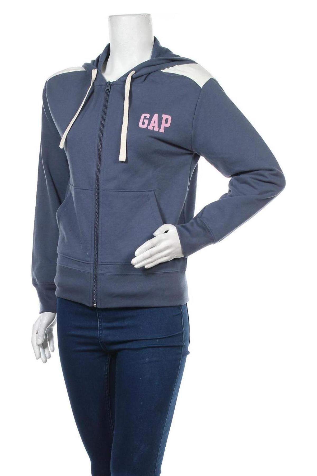Дамски суичър Gap, Размер XXS, Цвят Син, 60% памук, 40% полиестер, Цена 29,67лв.
