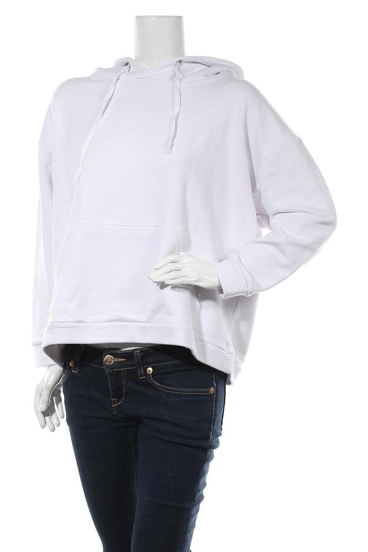 Дамски суичър Trendyol, Размер L, Цвят Бял, Памук, Цена 23,40лв.