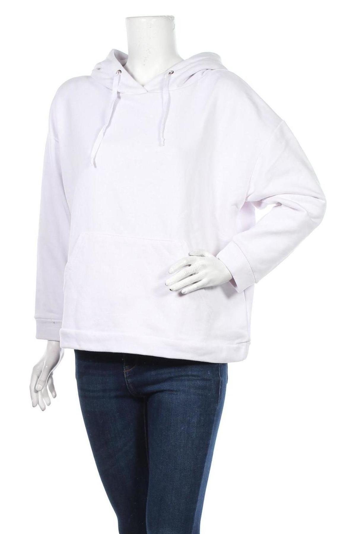 Дамски суичър Trendyol, Размер M, Цвят Бял, Памук, Цена 23,40лв.
