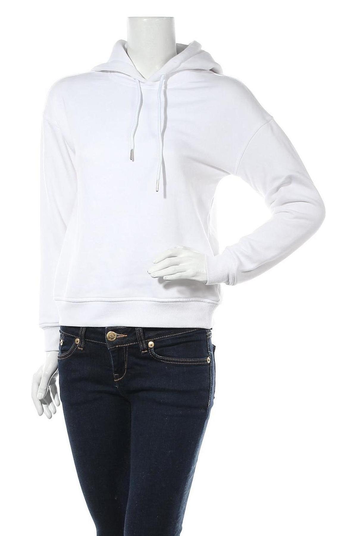 Дамски суичър Urban Classics, Размер S, Цвят Бял, 63% памук, 37% полиестер, Цена 24,08лв.