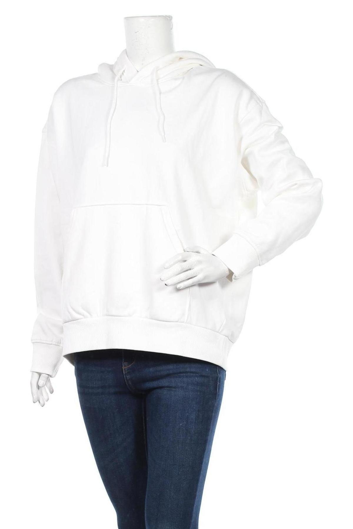 Дамски суичър Weekday, Размер S, Цвят Бял, 80% памук, 20% полиестер, Цена 26,55лв.
