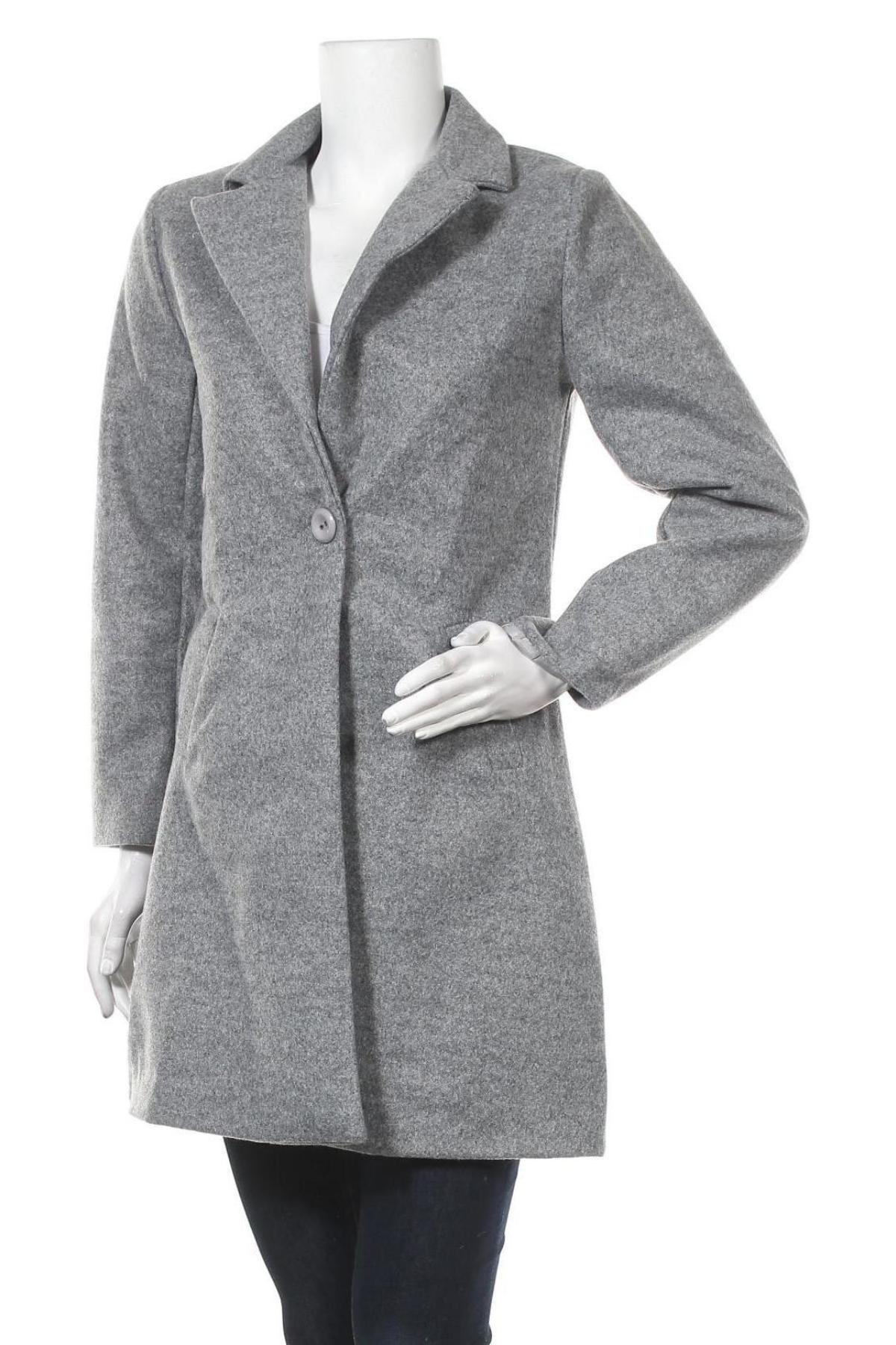 Дамско палто, Размер M, Цвят Сив, Полиестер, Цена 35,55лв.