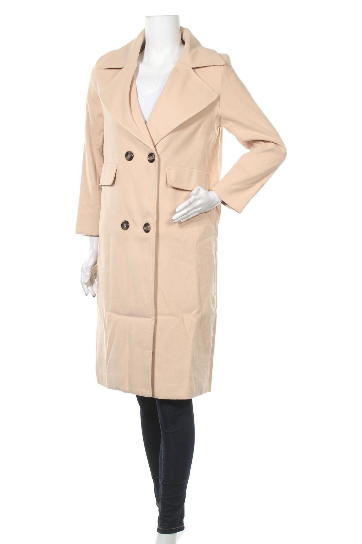 Дамско палто By Graziella, Размер S, Цвят Бежов, Полиестер, Цена 59,25лв.