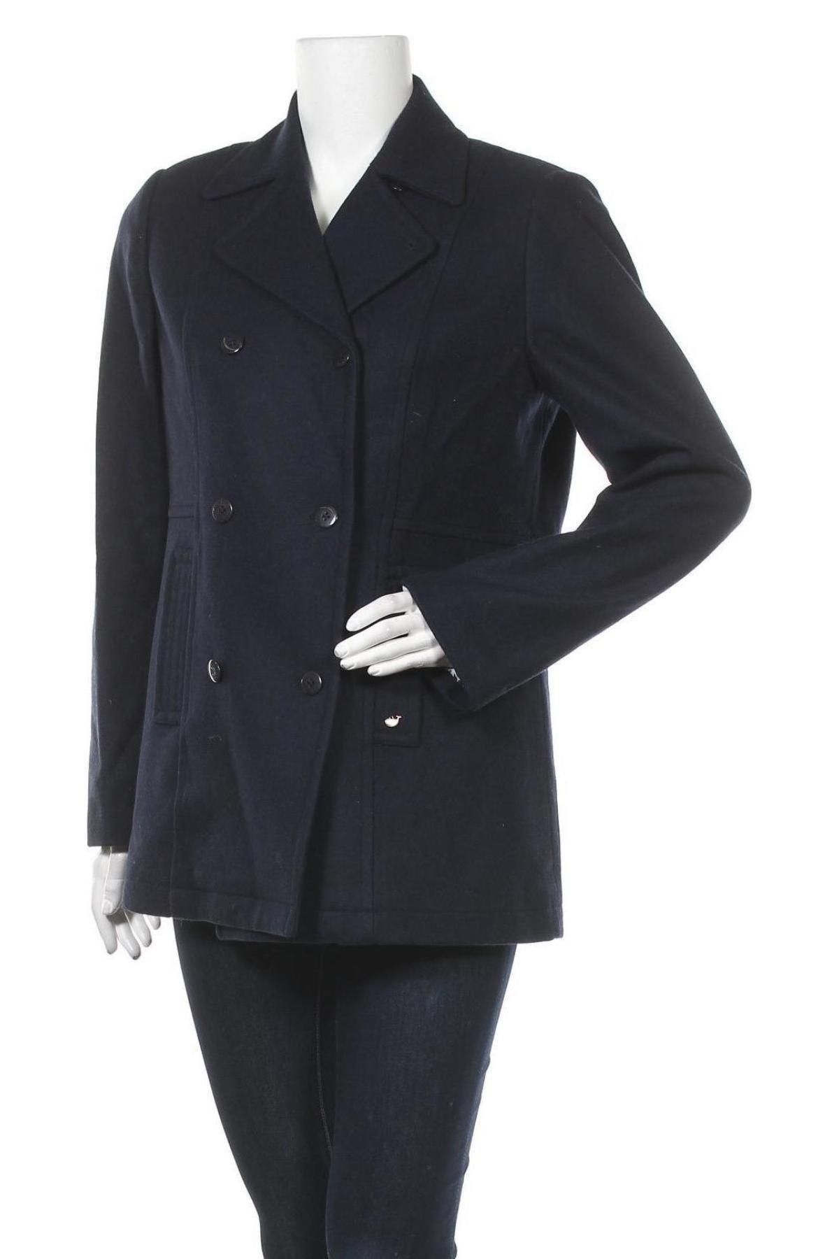 Дамско палто Le Phare De La Baleine, Размер M, Цвят Син, 60% вълна, 40% полиестер, Цена 52,25лв.