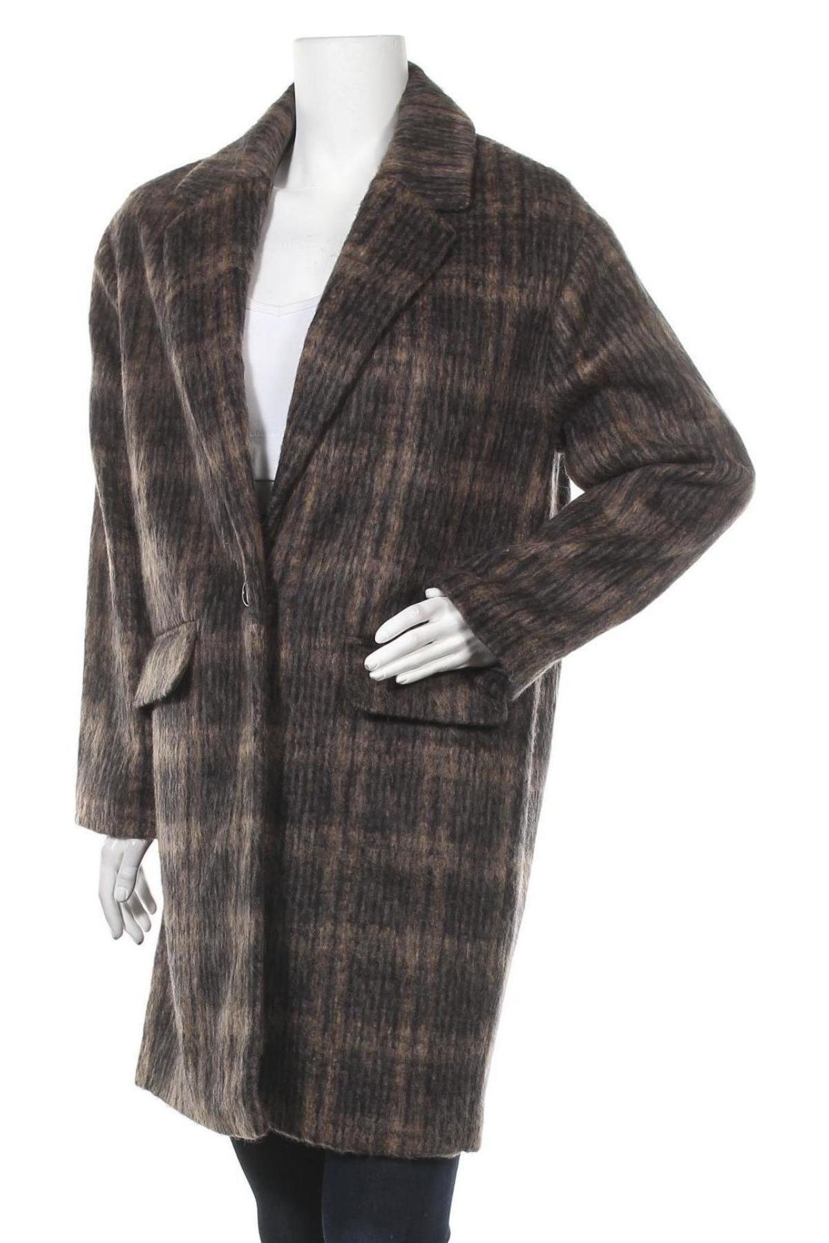 Дамско палто Mango, Размер S, Цвят Многоцветен, 65% полиестер, 31% вълна, 4% мохер, Цена 52,15лв.