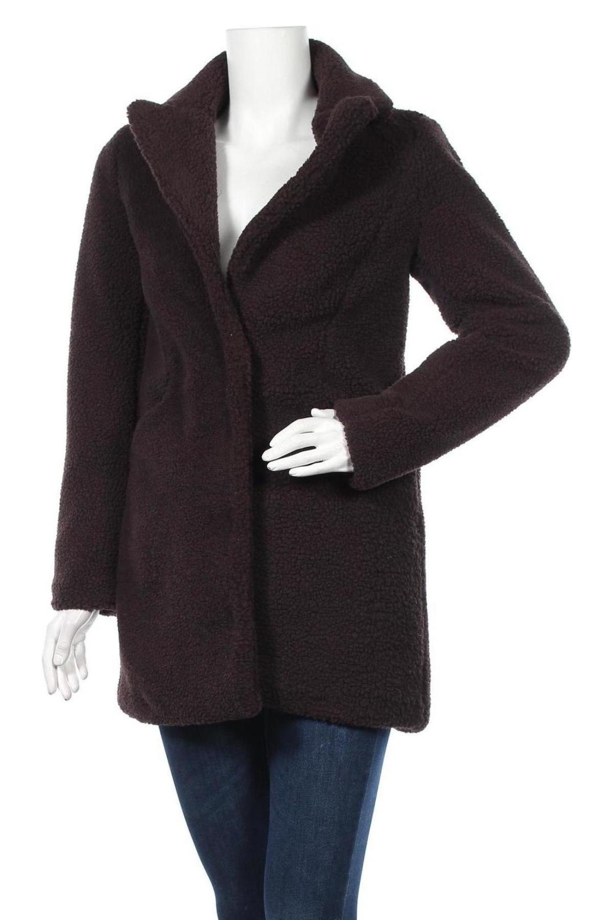 Дамско палто Vero Moda, Размер XS, Цвят Кафяв, Полиестер, Цена 41,42лв.