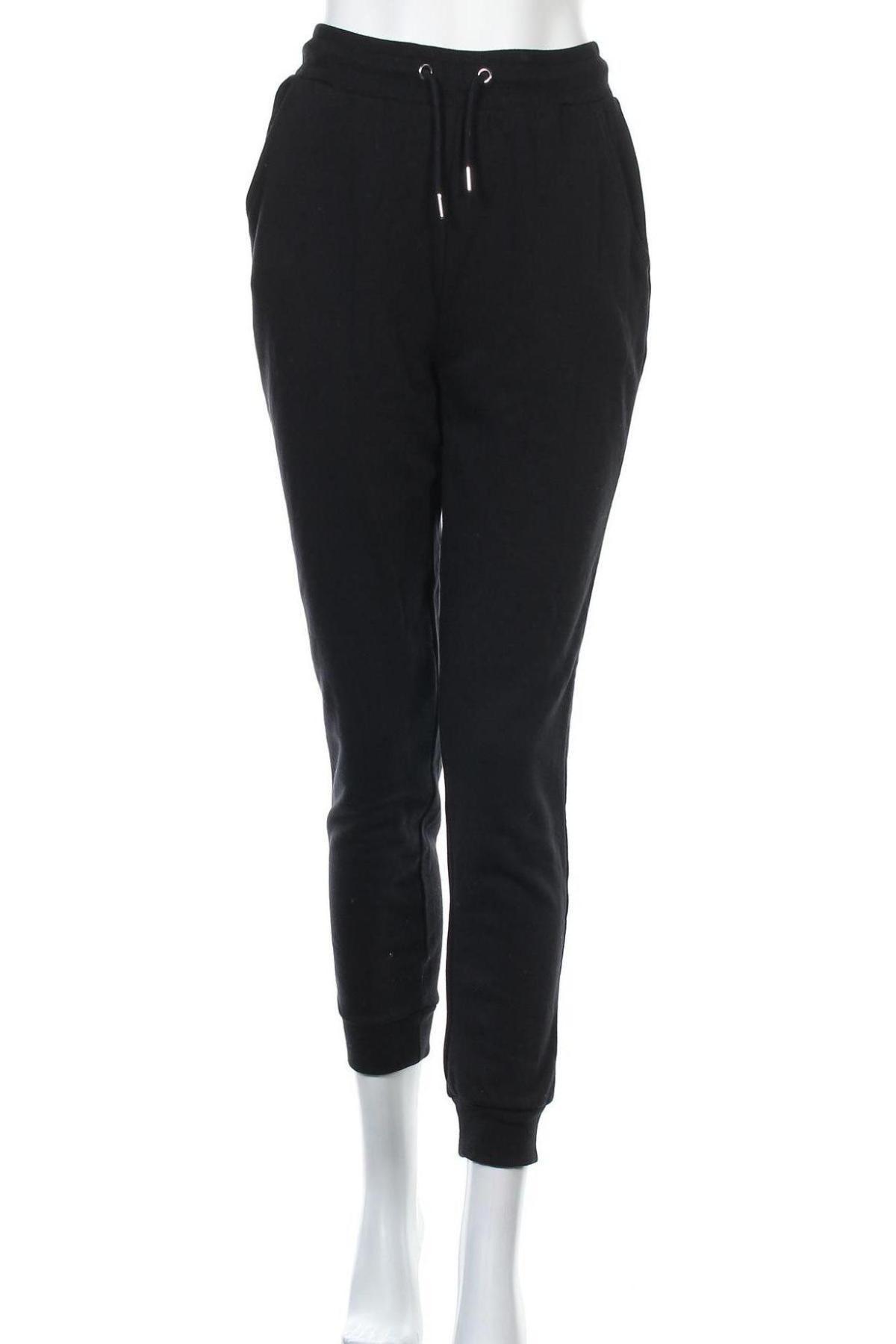 Дамско спортно долнище Even&Odd, Размер S, Цвят Черен, 60% памук, 40% полиестер, Цена 31,50лв.