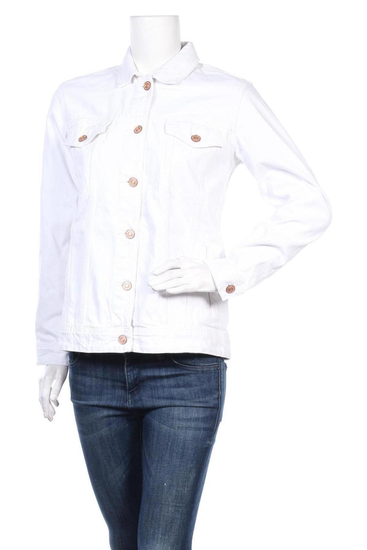 Дамско яке Noisy May, Размер S, Цвят Бял, 100% памук, Цена 46,50лв.