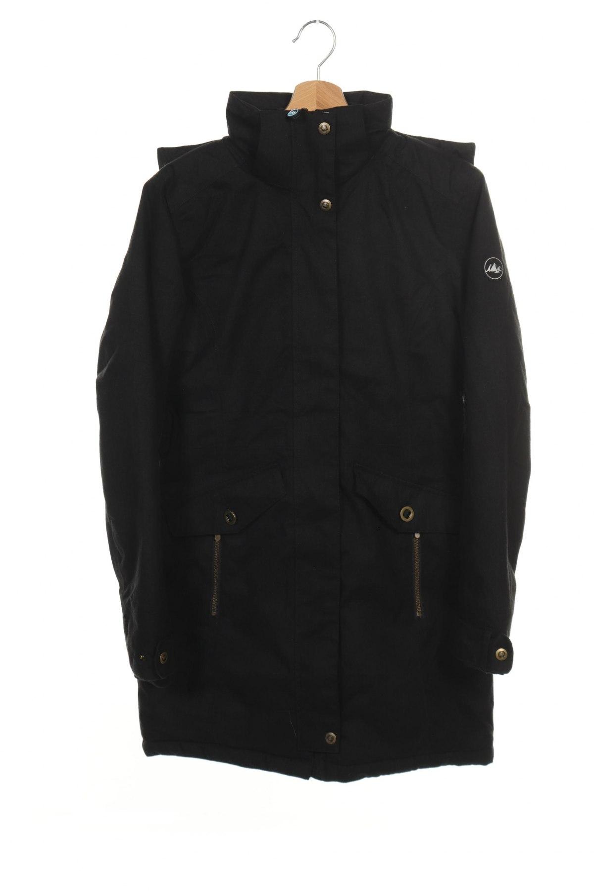 Дамско яке Polarino, Размер XS, Цвят Черен, Полиестер, Цена 141,75лв.