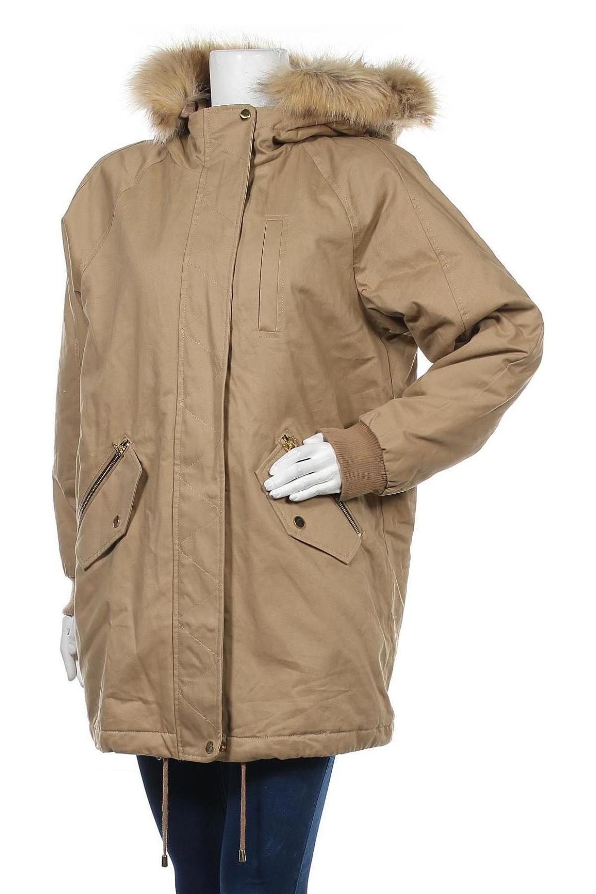 Дамско яке Pull&Bear, Размер M, Цвят Бежов, Полиамид, Цена 42,14лв.