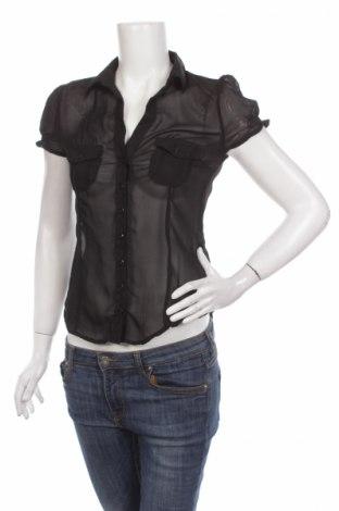 Γυναικείο πουκάμισο Vert De Rage, Μέγεθος M, Χρώμα Μαύρο, Πολυεστέρας, Τιμή 1,59€