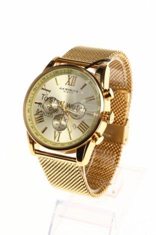 Ρολόι Akribos XXIV, Χρώμα Χρυσαφί, Μέταλλο, Τιμή 140,34€