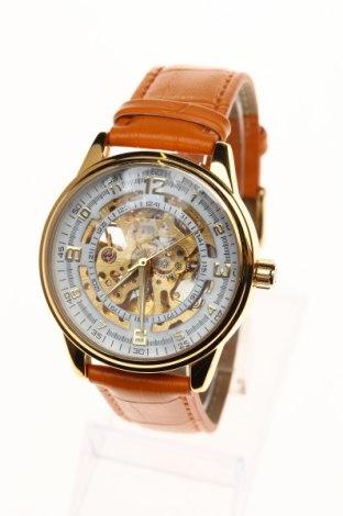 Часовник Akribos XXIV, Цвят Оранжев, Еко кожа, метал, Цена 192,25лв.