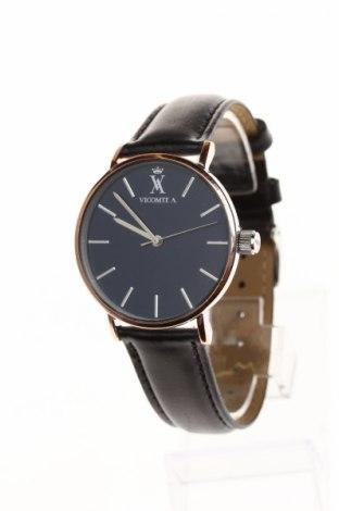 Часовник Vicomte A., Цвят Черен, Естествена кожа, метал, Цена 90,30лв.