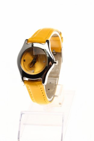 Часовник Yonger & Bresson, Цвят Жълт, Естествена кожа, метал, Цена 49,35лв.