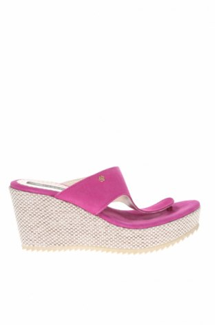Papuci de casă Cuple, Mărime 38, Culoare Roz, Velur natural, Preț 164,61 Lei