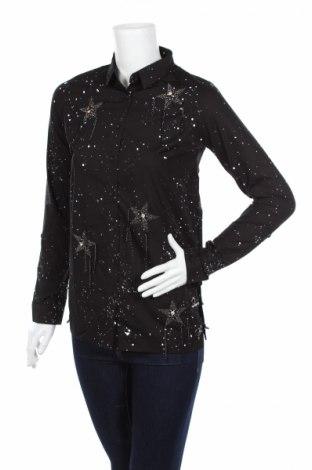 Дамска риза Cipo & Baxx, Размер XS, Цвят Черен, Памук, Цена 14,26лв.