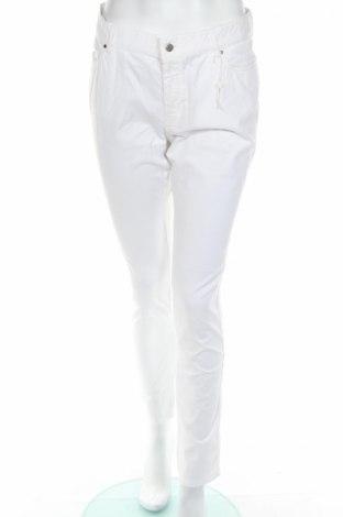 Γυναικείο παντελόνι Vicomte A., Μέγεθος L, Χρώμα Λευκό, 98% βαμβάκι, 2% ελαστάνη, Τιμή 16,39€
