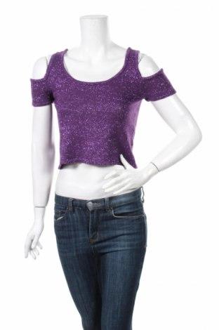 Дамски пуловер Absolutely, Размер S, Цвят Лилав, 85% акрил, 15% метални нишки, Цена 5,98лв.
