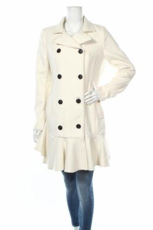 Дамско палто BCBG Max Azria, Размер M, Цвят Екрю, 70% вълна, 30% полиестер, Цена 444,50лв.
