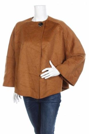 Palton de femei Zara, Mărime S, Culoare Maro, 44% lână, 34% poliester, 22% viscoză, Preț 46,97 Lei