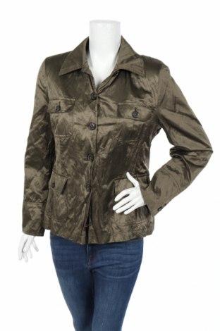 Дамско яке, Размер L, Цвят Зелен, 48% памук, 47% полиестер, 5% метални нишки, Цена 9,60лв.