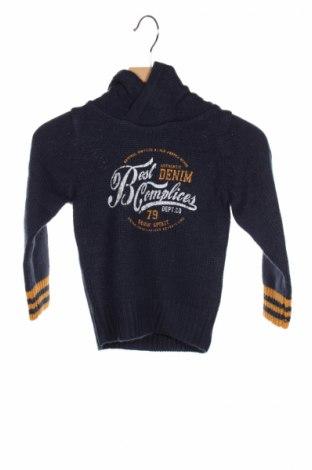 Детски пуловер Complices, Размер 2-3m/ 56-62 см, Цвят Син, Акрил, Цена 17,48лв.