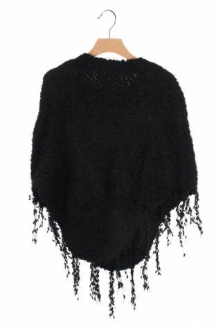 Детско пончо Mini Molly, Размер 8-9y/ 134-140 см, Цвят Черен, 70% полиамид, 30% акрил, Цена 49,56лв.