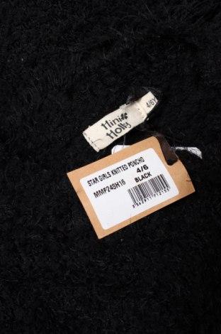 Детско пончо Mini Molly, Размер 4-5y/ 110-116 см, Цвят Черен, 70% полиамид, 30% акрил, Цена 49,56лв.