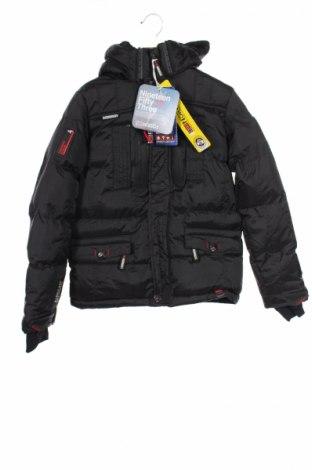 Детско яке Geographical Norway, Размер 9-10y/ 140-146 см, Цвят Черен, Полиамид, Цена 143,20лв.