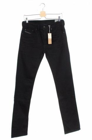 Мъжки дънки Diesel, Размер S, Цвят Черен, 99% памук, 1% еластан, Цена 37,35лв.