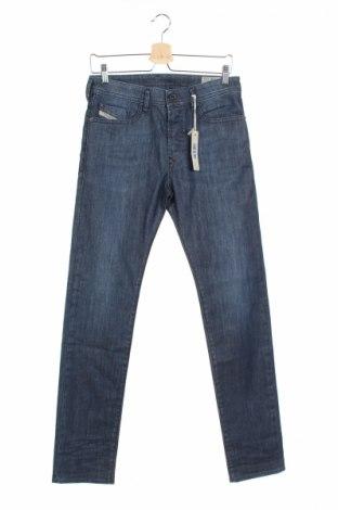 Мъжки дънки Diesel, Размер XS, Цвят Син, 97% памук, 3% еластан, Цена 186,75лв.
